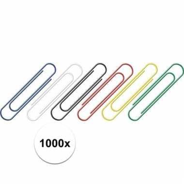 1000 stuks handige gekleurde paperclips 1000