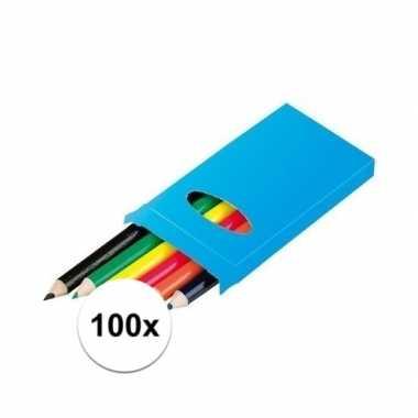 100x doosjes potloden voor kinderen