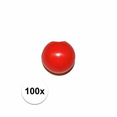 100x rode clowns knijpneus voor clown