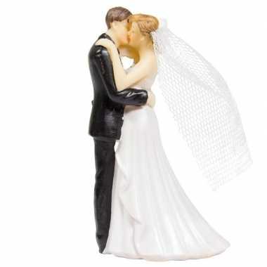 10cm taartdecoratie bruidspaar met trouwboek