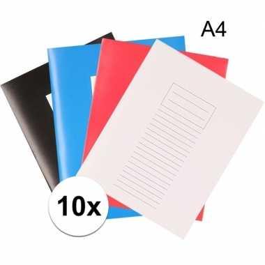 10x a4 schriften met lijntjes