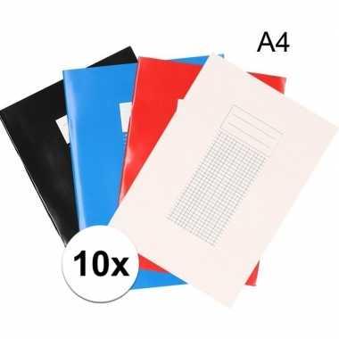 10x a4 schriften met ruitjes 5 mm