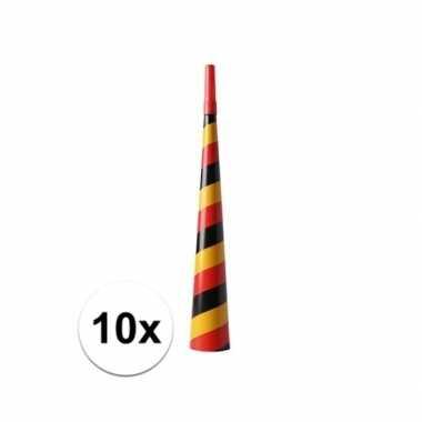 10x belgie of duitsland thema feest toeter