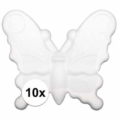 10x beschilderbare vlinder van piepschuim
