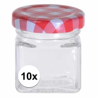 10x bewaar potje 50 ml met draaideksel
