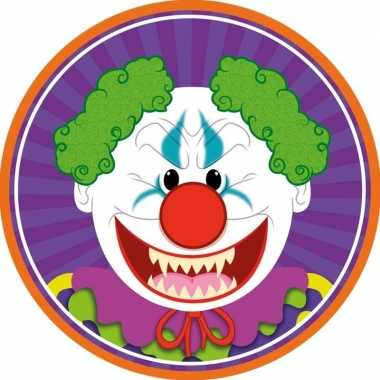 10x bierviltjes horror/halloween clown van karton