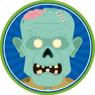 10x bierviltjes horror/halloween zombie van karton