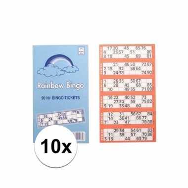 10x bingokaarten set