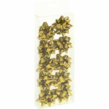 10x cadeau strikje goud 5 cm