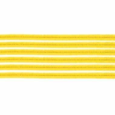 10x chenilledraad geel 50 cm