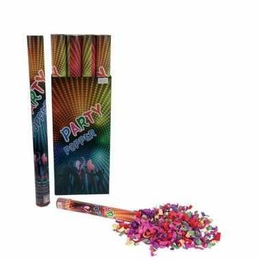 10x confetti knaller kleuren 60 cm