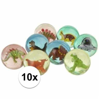 10x dinosaurus stuiterballen