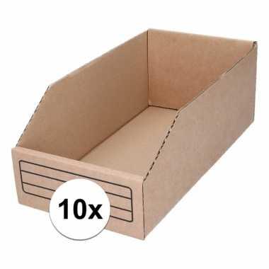 10x garage/schuur opslag/sorteer bakjes 15 x 30 cm