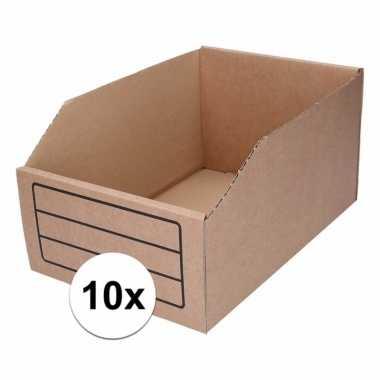 10x garage/schuur opslag/sorteer bakjes 20 x 30 cm