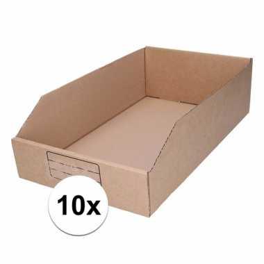 10x garage/schuur opslag/sorteer bakjes 25 x 42 cm