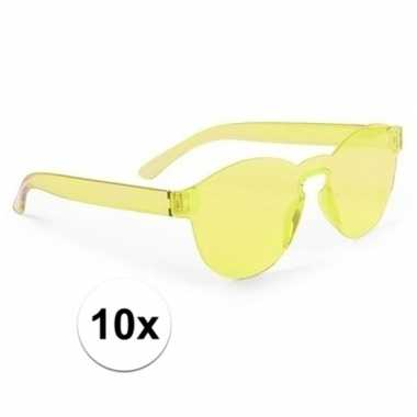 10x gele partybril voor volwassenen