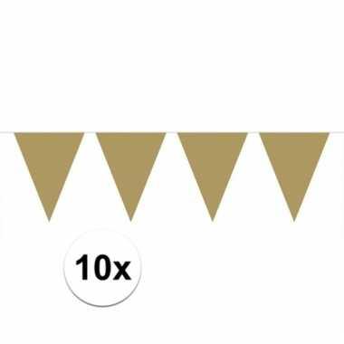 10x gouden vlaggenlijnen 10 meter
