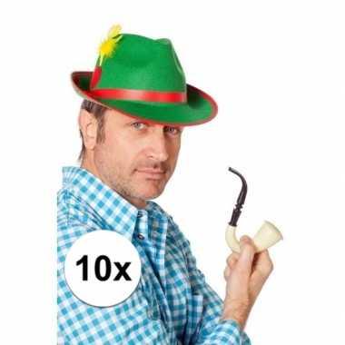 10x groene bierfeest hoedjes