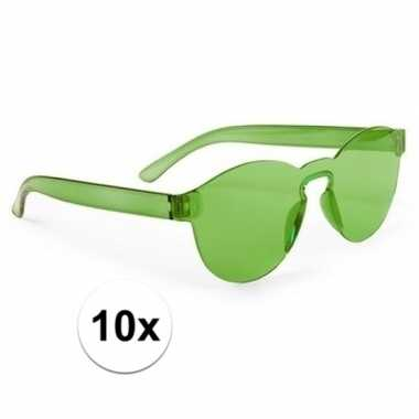 10x groene partybril voor volwassenen