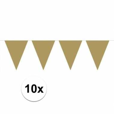 10x groot formaat gouden vlaggenlijnen