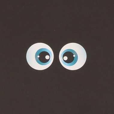 10x hobby materialen oog stickers 2x