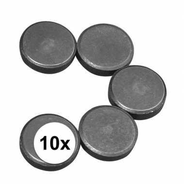 10x knutsel magneten rond 20 x 5 mm
