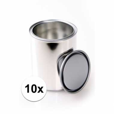10x lege kadoblikken met deksel