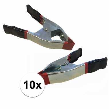 10x lijmklemmen / marktklemmen 15 cm