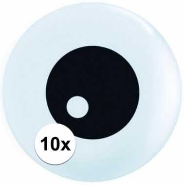 10x mini ballonnetjes oogbal 13 cm