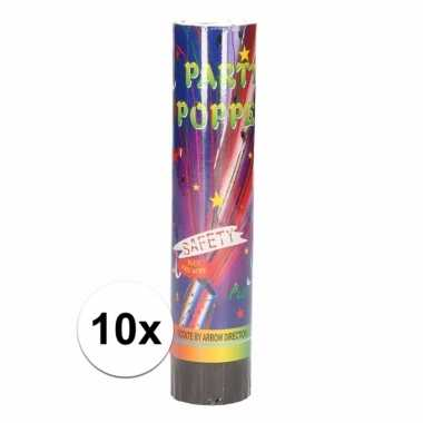 10x mini confetti knaller 20 cm