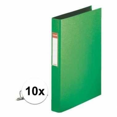 10x opberg documenten mappen a4 2 gaats groen
