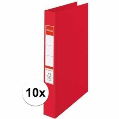 10x opberg documenten mappen a4 2 gaats rood