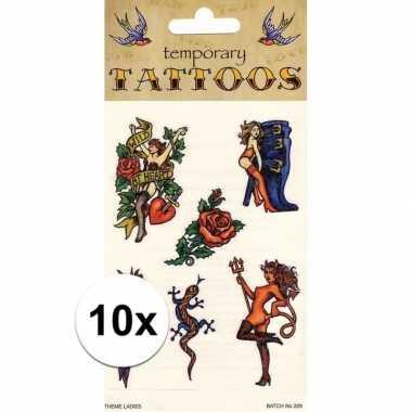 10x plak tatoeages biker thema