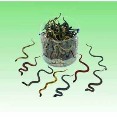 10x plastic nep decoratie slangen 15 cm