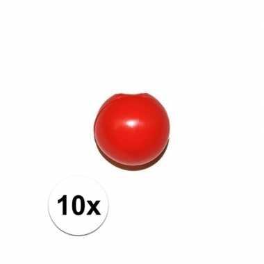 10x rode clowns knijpneus voor clown