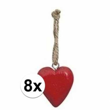 10x rode hart hanger 5 cm