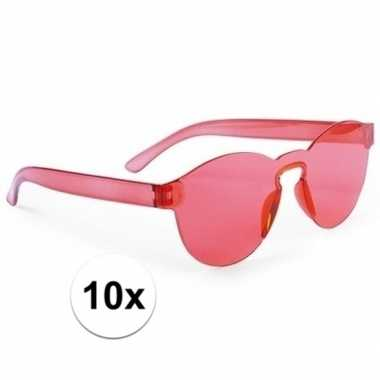 10x rode partybril voor volwassenen