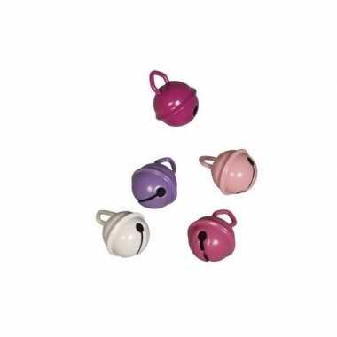 10x roze belletjes 15 mm