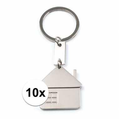 10x sleutelhangers verhuisd 3,5 cm
