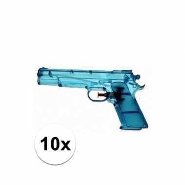10x speelgoed waterpistool doorzichtig