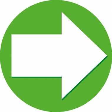 10x sticker pijl groen met wit