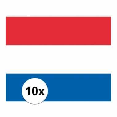 10x stickers van de nederlandse vlag