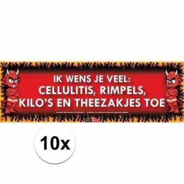 10x sticky devil stickers tekst cellulitis