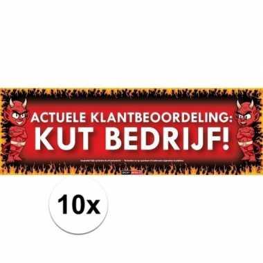 10x sticky devil stickers tekst kut bedrijf