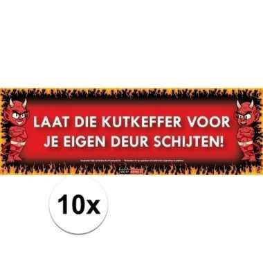 10x sticky devil stickers tekst kutkeffer