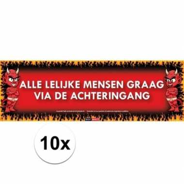 10x sticky devil stickers tekst lelijke mensen