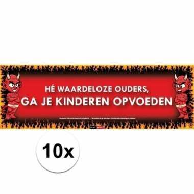 10x sticky devil stickers tekst ouders