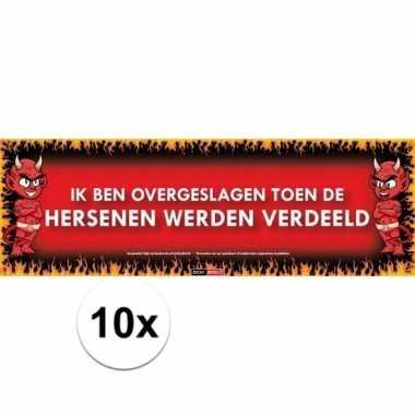 10x sticky devil stickers tekst overgeslagen