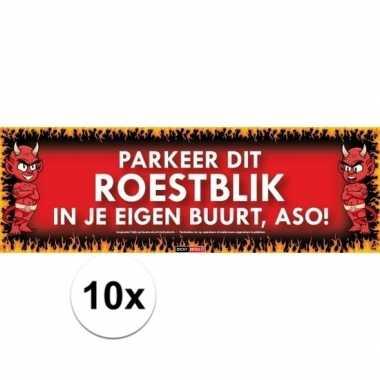 10x sticky devil stickers tekst roestblik
