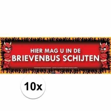 10x sticky devil stickers tekst schijten
